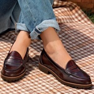 Sperry Winsor Retro Leather Penny Loafers Size 6